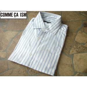 COMME CA ISM コムサイズム 細身ビジネスシャツ ストライプ Sサイズ lastpass