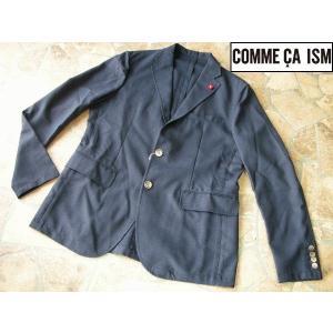 COMME CA ISM コムサイズム 上質テーラードジャケット 細身シルエット ネイビー Lサイズ|lastpass