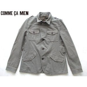 COMME CA MEN コムサ メン  上質ジャケット Mサイズ カーキ lastpass