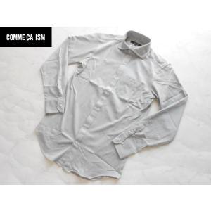 COMME CA ISM コムサイズム 上質カジュアルシャツ グレー Mサイズ lastpass