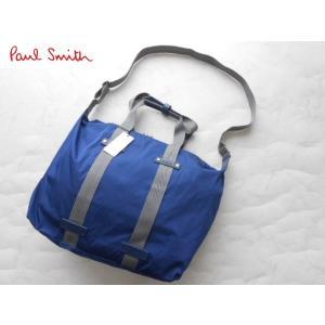 ポールスミス  牛革2WAYバッグ ブルー|lastpass