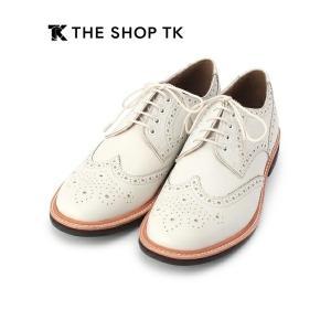 タケオキクチ THE SHOP TK 上質ビジネスシューズ デザイン&履き心地◎ ホワイト 26cm|lastpass