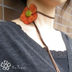 LT-1014 タグア ネックレス 花 Tagua Necklet Flower|lataguab