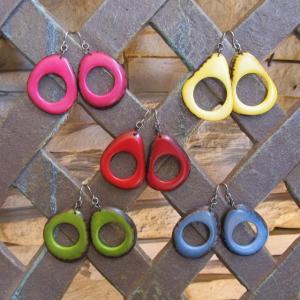 LT-5008 タグア ピアス/イヤリング フープ、 ピアスはキャッチ付き Tagua Earrings Hoop lataguab
