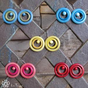 LT-5022 タグア  ピアス/イヤリング インフィニティ、 ピアスはキャッチ付き Tagua Earrings Infinity lataguab