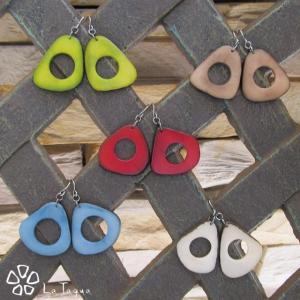 LT-5037 タグア ピアス/イヤリング スモールチップ、 ピアスはキャッチ付き Tagua Earrings Small Chips lataguab