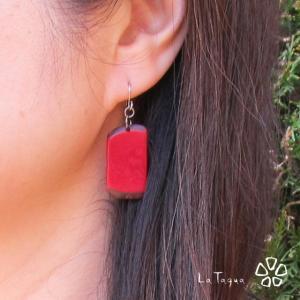 LT-5050 タグア ピアス/イヤリング、ナチュラルスクエア  ピアスはキャッチ付き Tagua Earrings lataguab
