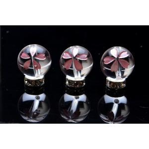 【1粒売り】彫刻 水晶 ピンク彫り 桜 12mm  バラ売り ビーズ 天然石 パワーストーン _T260-12 5000円以上送料無料
