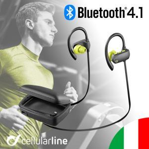 イヤホン Bluetooth ワイヤレス 高音質 スポーツ 防水 ランニング イヤーフック ポーチ 収納 ケース 充電器 バッテリー 海外 Cellularline|lauda