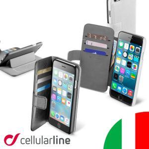 iPhone 6s 6 手帳型 スマホケース レザー 革 財布 マグネット スマホ ケース スタンド カード カード収納 ブランド セルラーライン Cellularline BOOK AGENDA|lauda