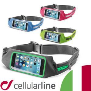スマホ iPhone ウェストポーチ ランニング ジョギング アイフォン スマートフォン ウエストポーチ ポーチ ブランド セルラーライン Cellularline WAISTBAND VIEW|lauda