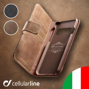Cellularline Galaxy S20 Ultra S20+ S10 S10+ S9 ケース 手帳型 S9+ Plus 本革 ギャラクシー|lauda
