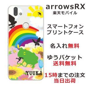 スマホケース arrows RX ケース アローズ カバー スマホカバー 食事中 親指姫