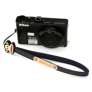 paul frank/ポールフランク ミラーレスカメラ/コンパクトデジカメ用 ハンドストラップ 13PF-SH01 BLACK ブラック laughs