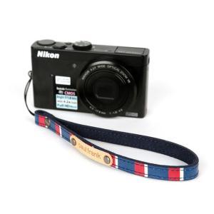 paul frank/ポールフランク ミラーレスカメラ/コンパクトデジカメ用 ストライプ柄 ハンドストラップ 13PF-SH02-1 NAVY STRIPE ネイビーストライプ laughs