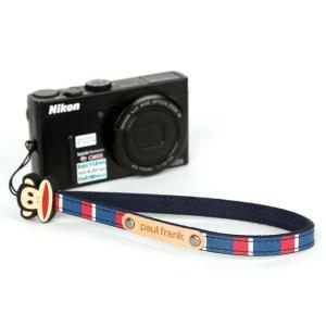 paul frank/ポールフランク ミラーレスカメラ/コンパクトデジカメ用 ストライプ柄 ハンドストラップ 13PF-SH02 NAVY STRIPE ネイビーストライプ laughs