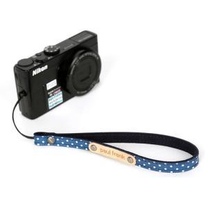 paul frank/ポールフランク ミラーレスカメラ/コンパクトデジカメ用 ドット柄 ハンドストラップ 13PF-SH03-1 NAVY DOT ネイビードット laughs