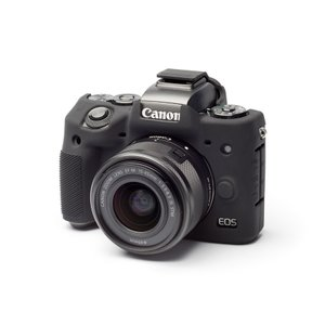 EASY COVER/イージーカバー Canon EOS M5 用 カメラカバー ブラック 液晶保護フィルム付|laughs