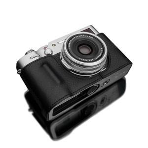 GARIZ/ゲリズ FUJIFILM X100V用 本革カメラケース HG-X100VBK ブラック laughs