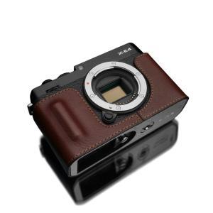 GARIZ/ゲリズ FUJIFILM X-E4用 本革カメラケース HG-XE4BR ブラウン laughs