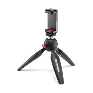 PIXIの脚部分を畳んでグリップとして持てば、動画撮影にも便利に スマートフォンアダプターは、ユニバ...