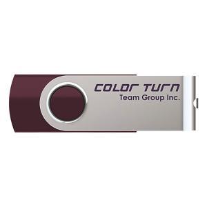 【メール便OK】Team Japan USBメモリ Color Turn E902(パープル) USB2.0 64GB TG064GE902VX|laughs