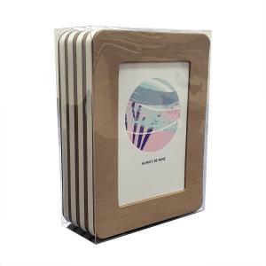 thehaki L判サイズ用 サンドイッチフレーム 4P セット (クラフト)|laughs