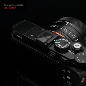 GARIZ/ゲリズ ホットシューカバー XA-SPM2 ブラック(ヘアライン加工)|laughs