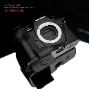 GARIZ/ゲリズ OLYMPUS OM-D E-M1 Mark2用 本革カメラケース XS-CHEM1IIBK ブラック|laughs