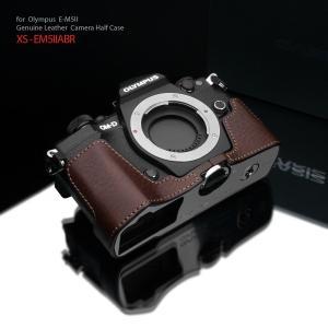 GARIZ/ゲリズ OLYMPUS OM-D E-M5 Mark II 用 本革カメラケース XS-CHEM5IIABR ブラウン|laughs