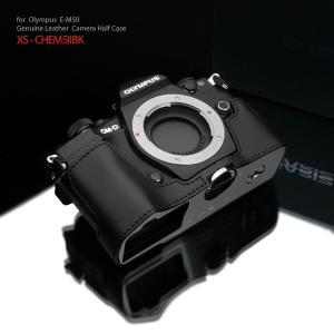 GARIZ/ゲリズ OLYMPUS OM-D E-M5 Mark II 用 本革カメラケース XS-CHEM5IIBK ブラック laughs