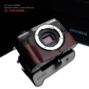 GARIZ/ゲリズ Canon EOS M6用 本革カメラケース XS-CHEOSM6BR ブラウン|laughs