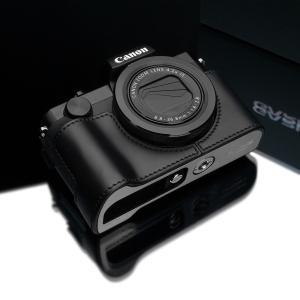GARIZ/ゲリズ Canon G5X用 本革カメラケース XS-CHG5XBK ブラック|laughs