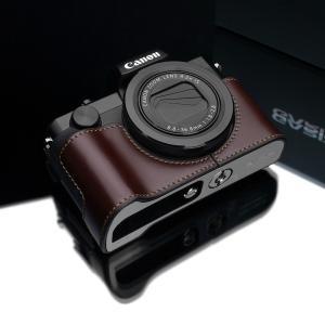 GARIZ/ゲリズ Canon G5X用 本革カメラケース XS-CHG5XBR ブラウン|laughs