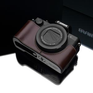 GARIZ/ゲリズ Canon G5X用 本革カメラケース XS-CHG5XBR ブラウン|laughs|02
