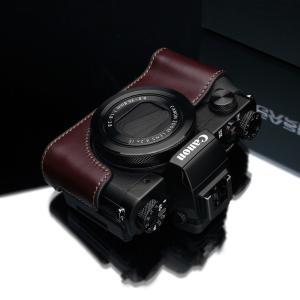 GARIZ/ゲリズ Canon G5X用 本革カメラケース XS-CHG5XBR ブラウン|laughs|03