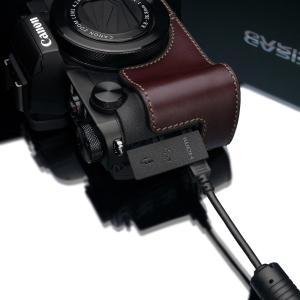 GARIZ/ゲリズ Canon G5X用 本革カメラケース XS-CHG5XBR ブラウン|laughs|04