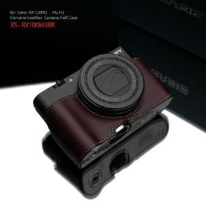 GARIZ/本革カメラケース SONY DSC-RX100M3/M4/M5用 XS-CHRX100M3BR|laughs