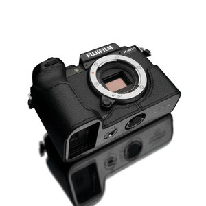 GARIZ/ゲリズ FUJIFILM X-S10用 本革カメラケース XS-CHXS10BK ブラック laughs