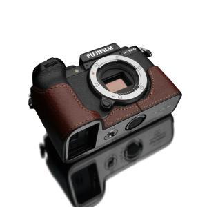 GARIZ/ゲリズ FUJIFILM X-S10用 本革カメラケース XS-CHXS10BR ブラウン laughs