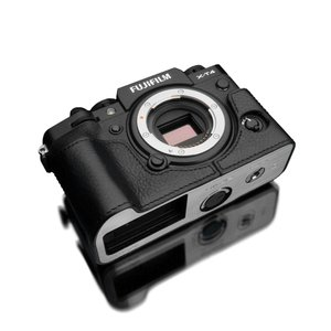 GARIZ/ゲリズ FUJIFILM X-T4用 本革カメラケース XS-CHXT4BK ブラック
