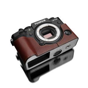 GARIZ/ゲリズ FUJIFILM X-T4用 本革カメラケース XS-CHXT4BR ブラウン