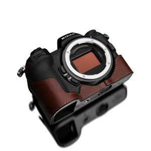 GARIZ/ゲリズ Nikon Z6/Z7 用 本革カメラケース XS-CHZ6/7BR ブラウン