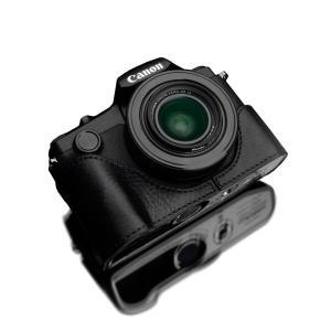 GARIZ/ゲリズ Canon PowerShot G1 X Mark III 用 本革カメラケース XS-G1XM3BK ブラック|laughs