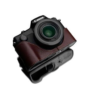 GARIZ/ゲリズ Canon PowerShot G1 X Mark III 用 本革カメラケース XS-G1XM3BR ブラウン|laughs