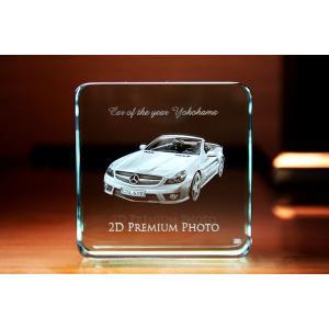 お手持ちの写真からオリジナル記念品を作成 Laser Crystal Art ペーパーウェイトタイプ ベース(Aサイズ)  FLガラス製|laughs