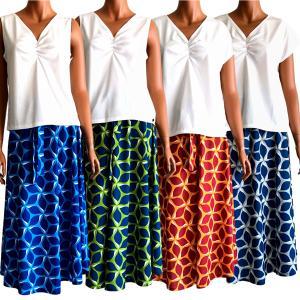ラウレア ハワイ 2way スカート ワンピース アロハ フラ  リーフ プルメリア|lauleahawaii