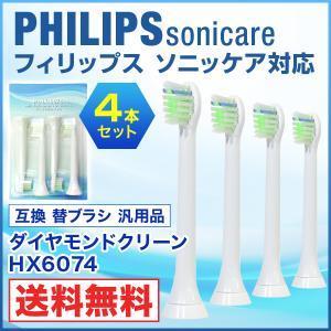 フィリップス ソニッケアー対応 電動歯ブラシ用 互換替えブラシ HX6074 ダイヤモンドクリーン ブラシヘッド ミニタイプの画像