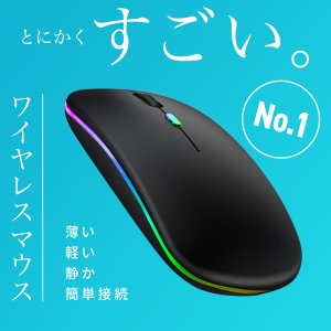 ワイヤレスマウス USB充電式 マウス 無線 静音 薄型 高精度 ワイヤレス コンパクト 2.4GHz 光学式|Laundly