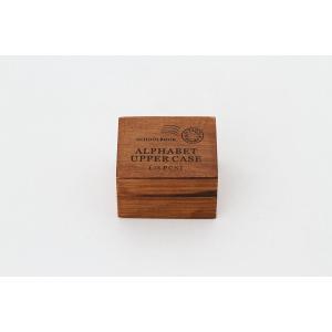 アンティーク風 スタンプ アルファベット 大文字 ウッドボックス 木箱 イニシャル|laurier